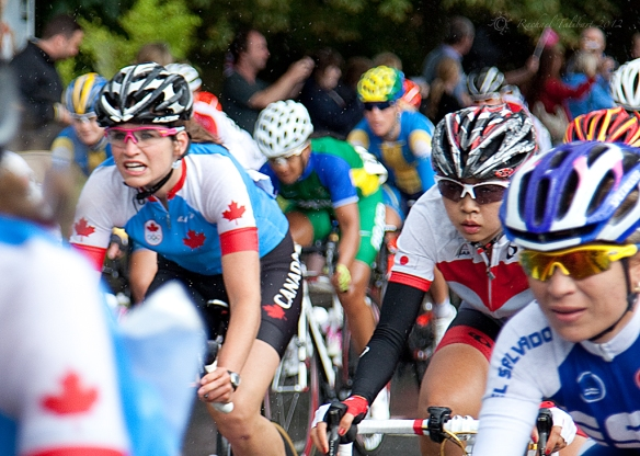 Canadian rider in women's Olympic road race 2012