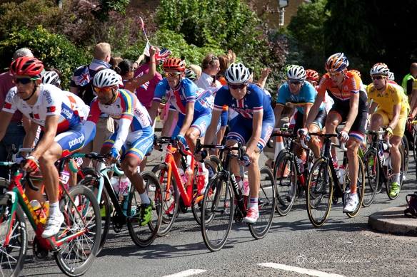 Cyclists in the Olympic road race 2012