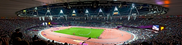 panorama Olympic stadium 2012