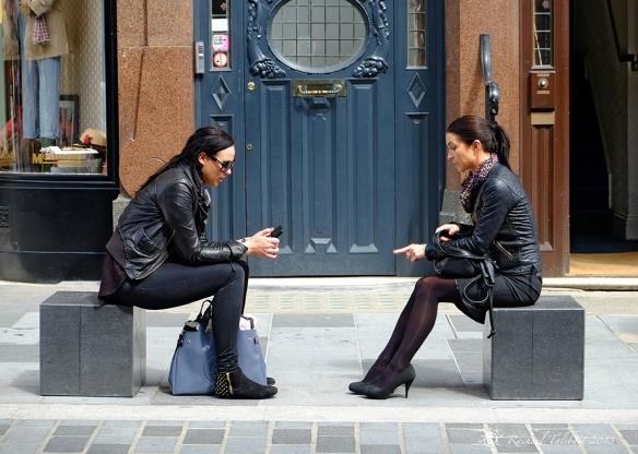 Women and phone, Belgravia