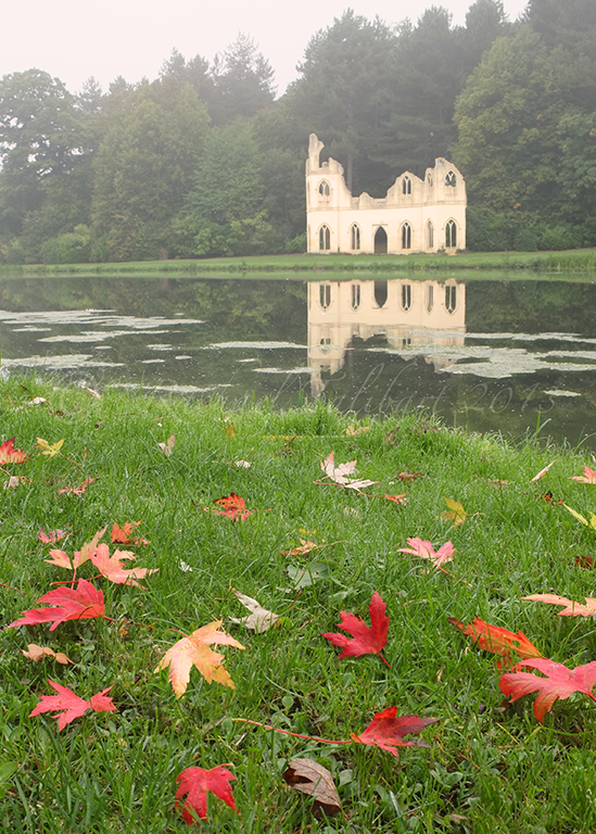 folly and autumn leaves