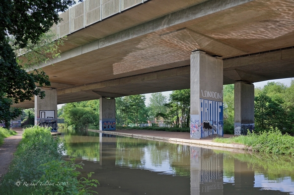 The M25 crosses the Wey