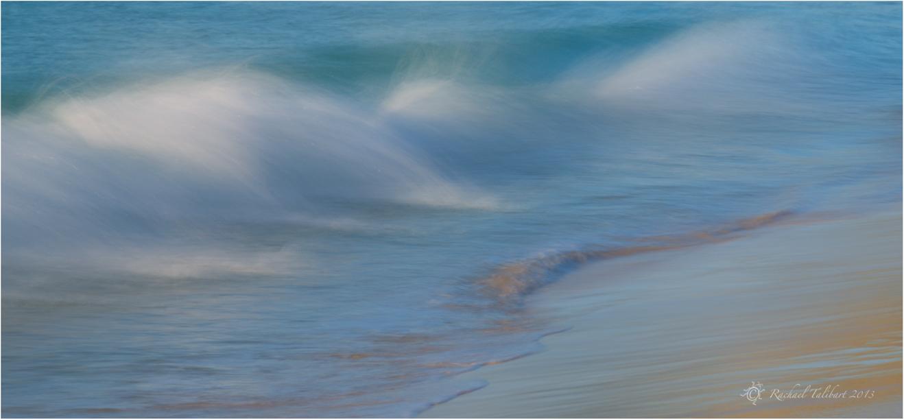 Waves meet beach