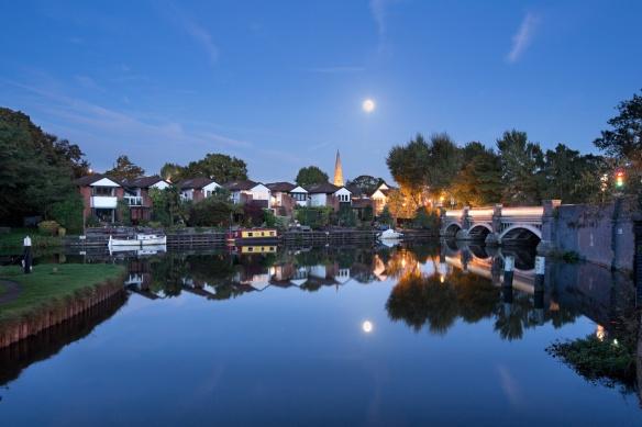 Moonrise over Weybridge