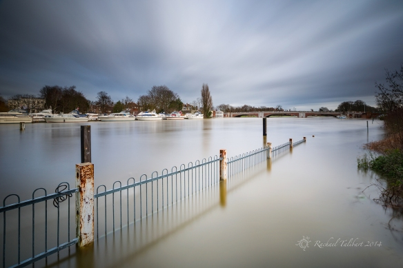 Flooding at Hampton Court