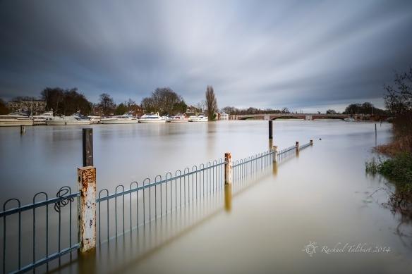 Flooding at Hampton Court
